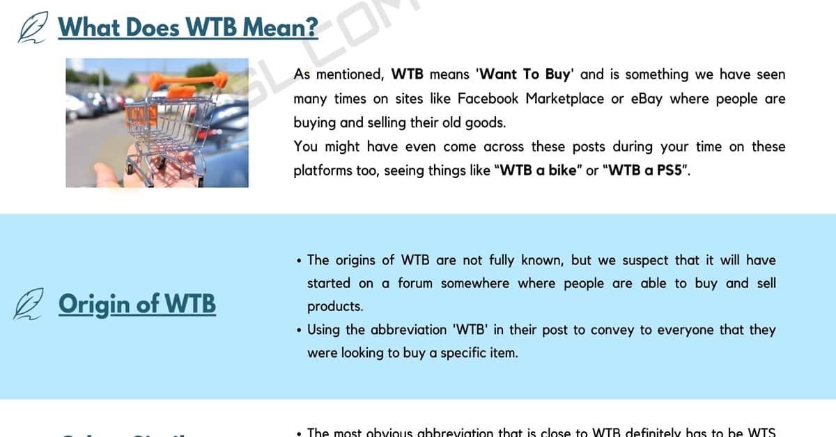 WTB Meaning | What Does WTB Mean & Stand For? 1