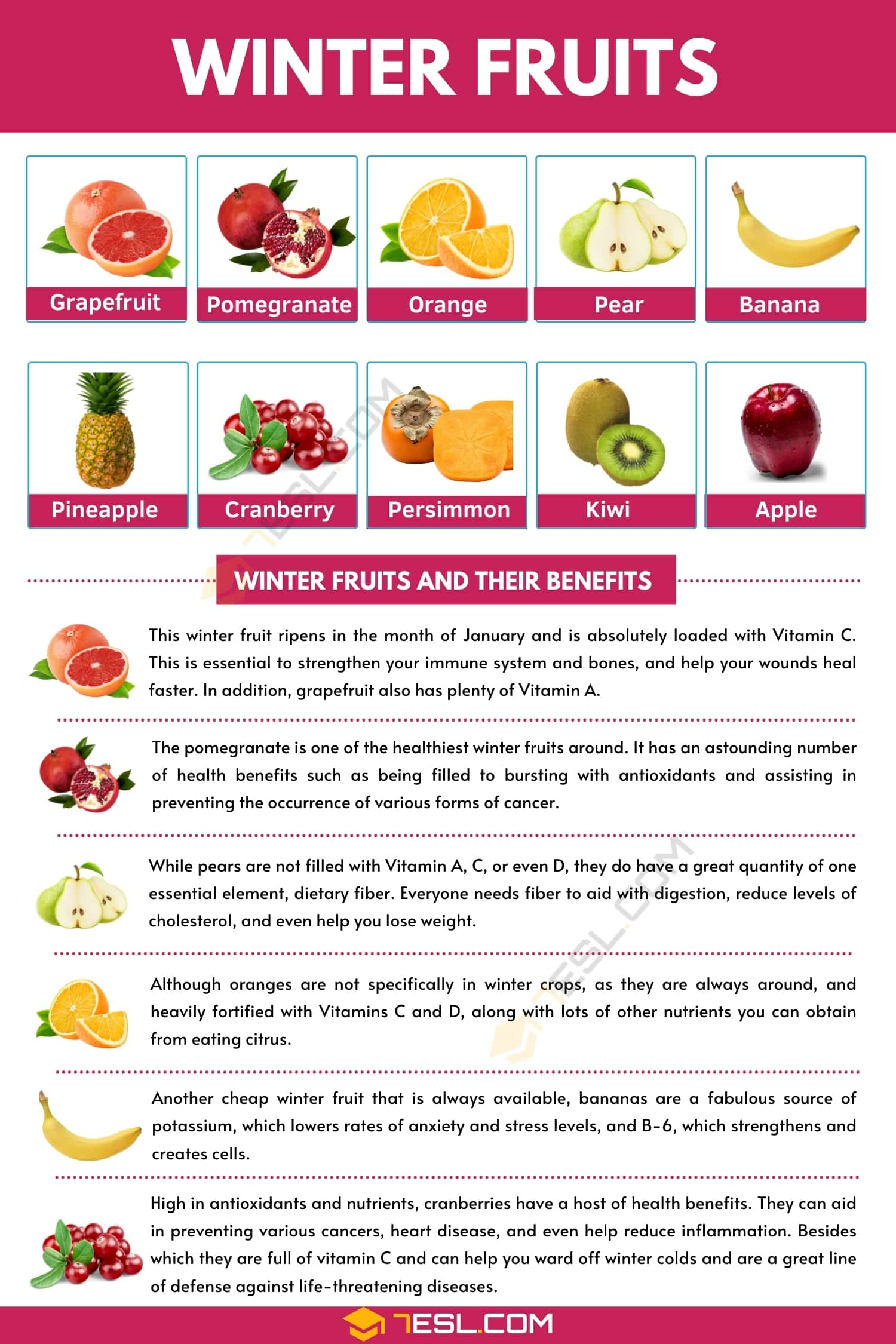 Winter Fruits | List of Winter Fruits and Their Awesome Benefits
