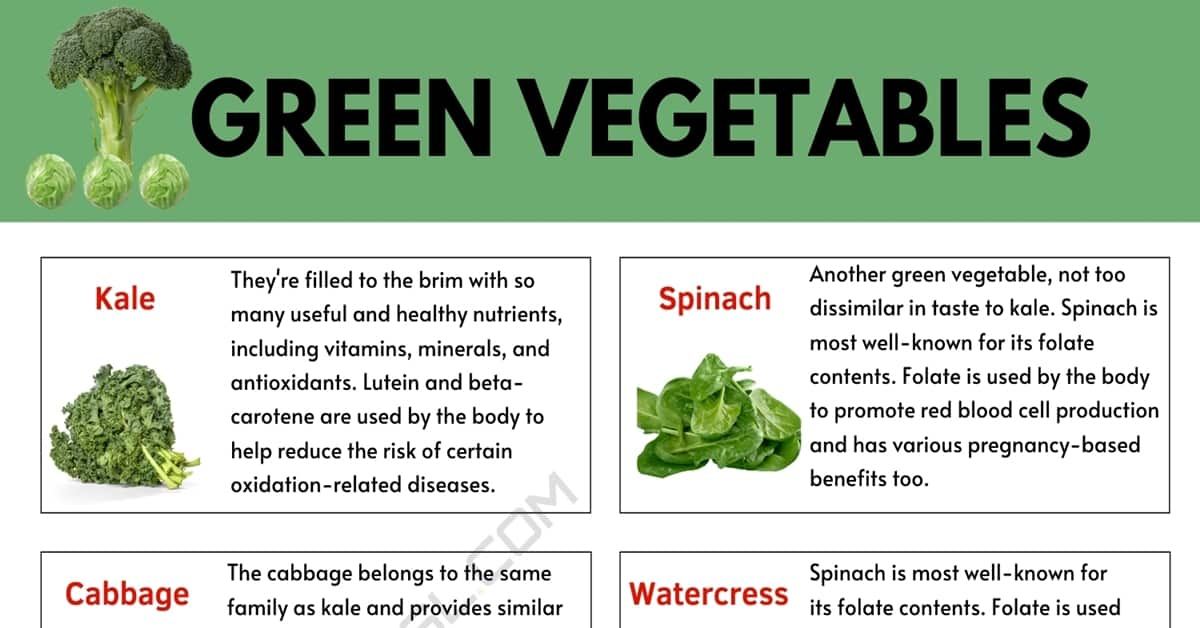 Green Vegetables: List of 33 Green Vegetables and their Benefits 1